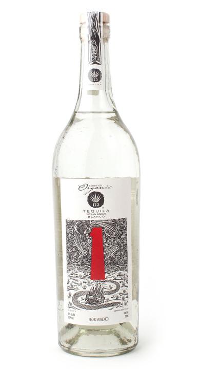 Bottle of 123 Organic Tequila Blanco