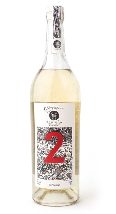 Bottle of 123 Organic Tequila Reposado