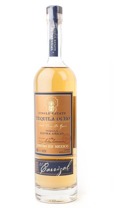 Bottle of Ocho Tequila Extra Añejo