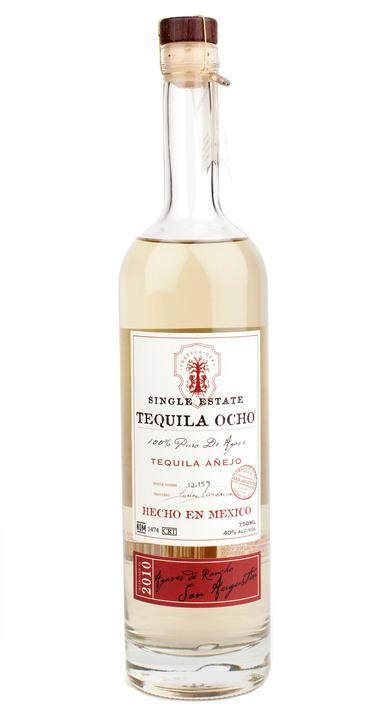 Bottle of Ocho Tequila Añejo