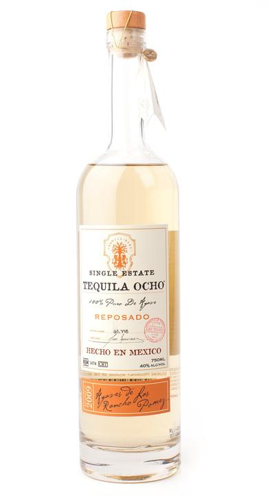 Bottle of Ocho Tequila Reposado