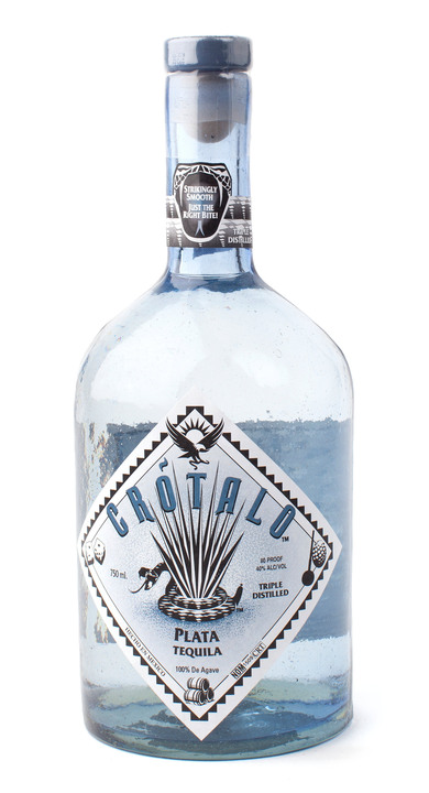 Bottle of Crotalo Tequila Plata