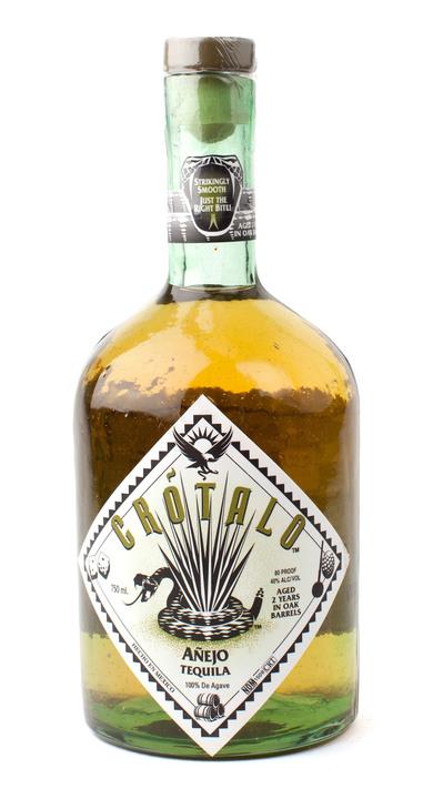 Bottle of Crotalo Tequila Añejo