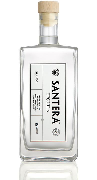 Bottle of Santera Tequila Blanco