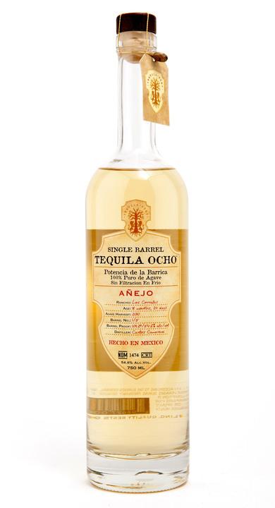 Bottle of Ocho Tequila Añejo (Single Barrel) - Los Corrales 2010