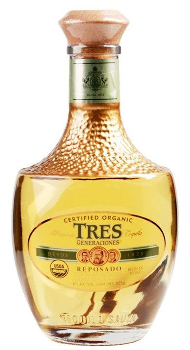 Bottle of Sauza Tres Generaciones Certified Organic Reposado