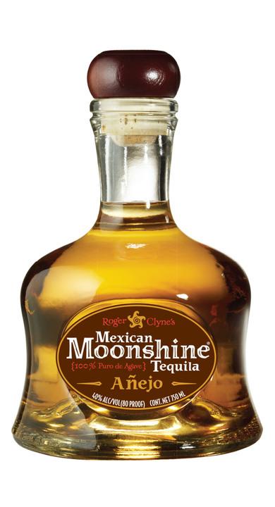 Bottle of Mexican Moonshine Tequila Añejo