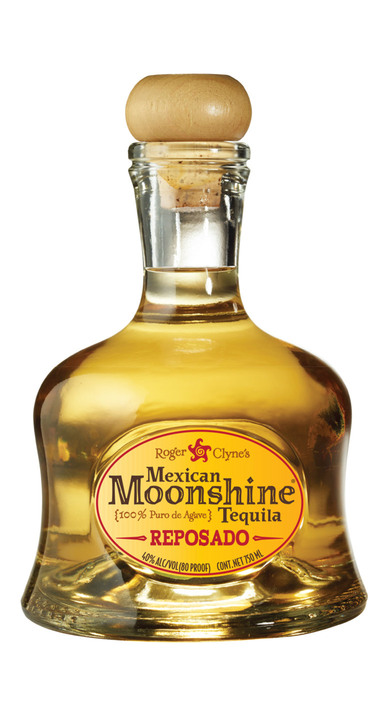Bottle of Mexican Moonshine Tequila Reposado