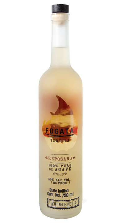 Bottle of Fogata Tequila Reposado