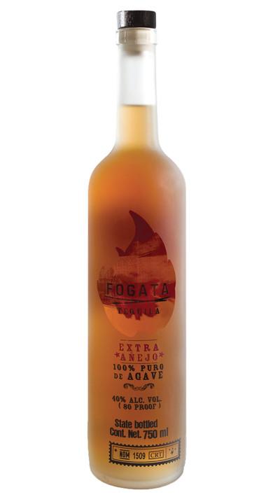 Bottle of Fogata Tequila Extra Añejo