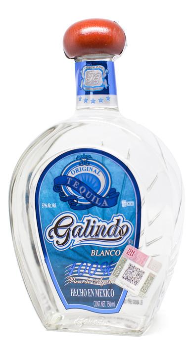 Bottle of Galindo Tequila Blanco