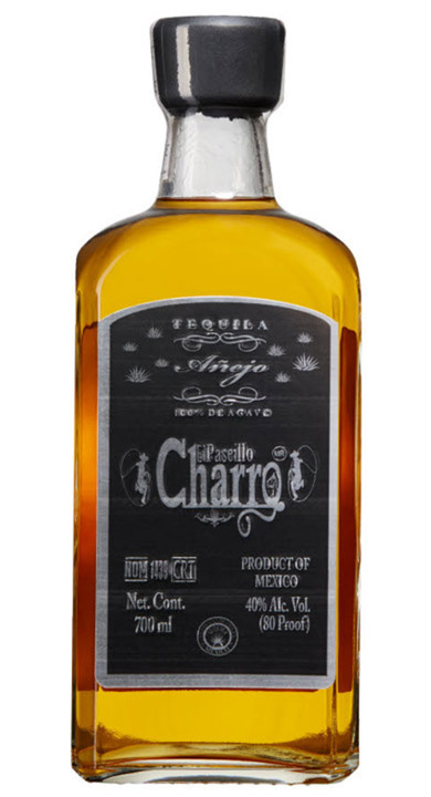 Bottle of El Paseillo Charro Tequila Añejo