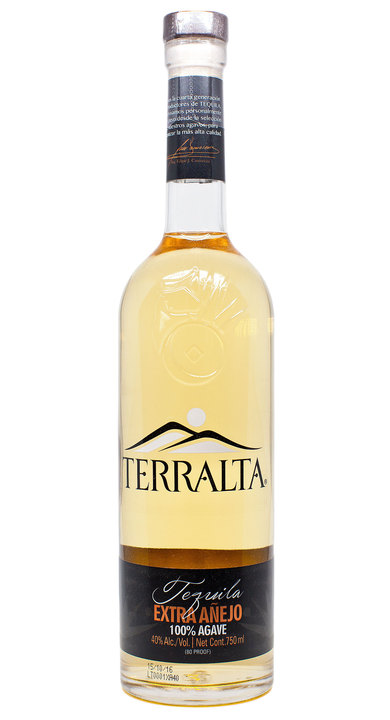 Bottle of Terralta Tequila Extra Añejo
