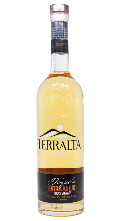 Bottle of Terralta Tequila Extra Añejo 110