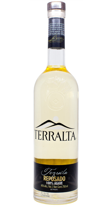 Bottle of Terralta Tequila Reposado