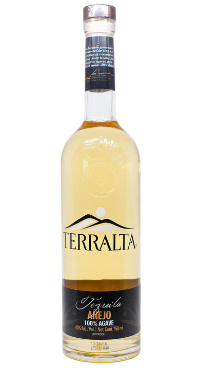 Bottle of Terralta Tequila Añejo