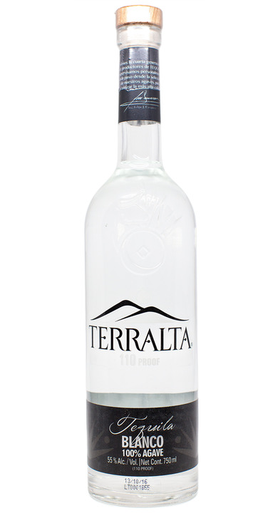 Bottle of Terralta Tequila Blanco 110