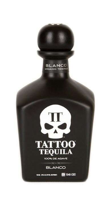 Bottle of Tattoo Tequila Blanco