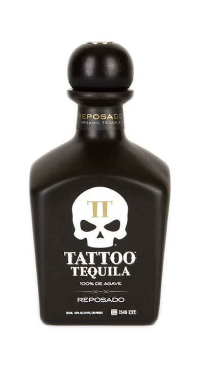 Bottle of Tattoo Tequila Reposado