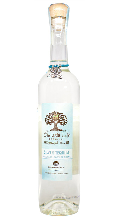 Bottle of One With Life Tequila Silver