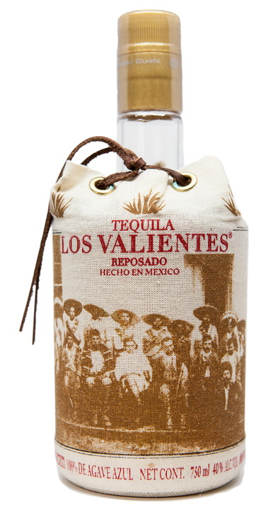 Bottle of Los Valientes Tequila Reposado
