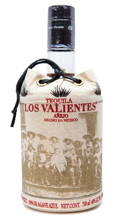 Bottle of Los Valientes Tequila Añejo