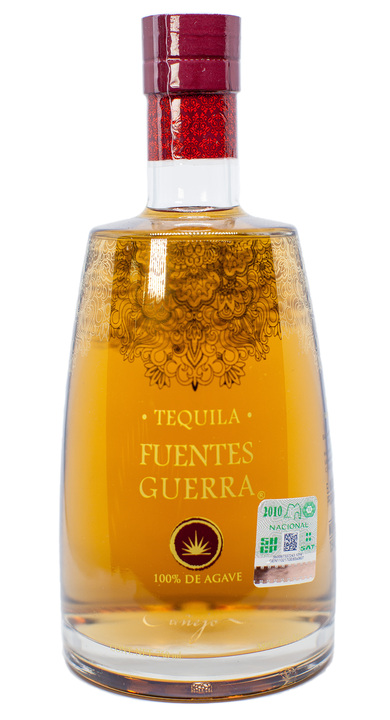 Bottle of Fuentes Guerra Tequila Añejo