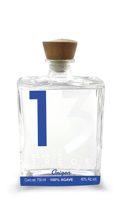 Bottle of Tequila Blanco 13 Origen