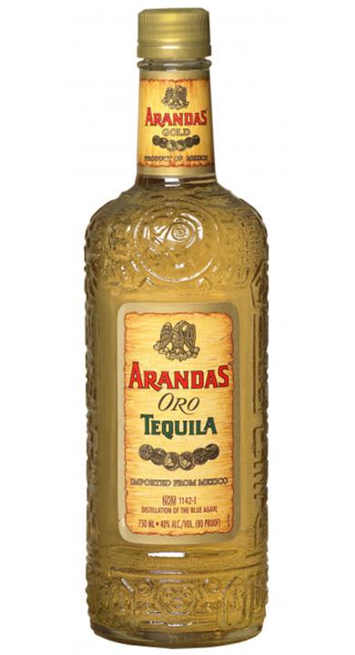 Bottle of Arandas Oro Tequila Gold