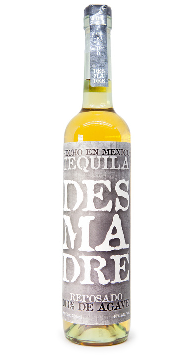 Bottle of Desmadre Reposado Tequila