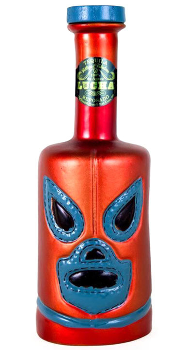 Bottle of Lucha Tequila Reposado