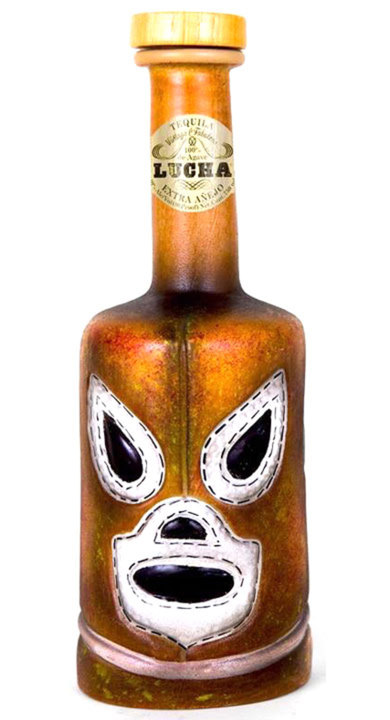 Bottle of Lucha Tequila Extra Añejo