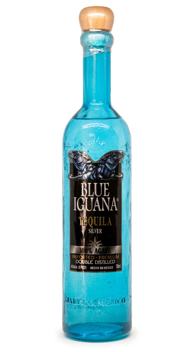 Bottle of Blue Iguana Tequila Silver