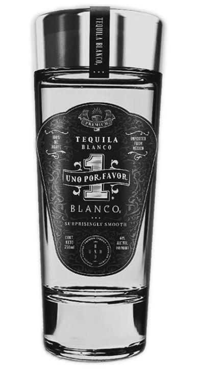 Bottle of Uno Por Favor Tequila Blanco