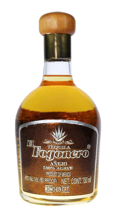 Bottle of El Fogonero Añejo