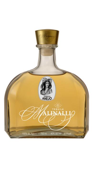 Bottle of Malinalli Añejo Tequila