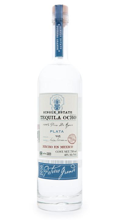 Bottle of Ocho Tequila Plata - Potrero Grande 2016