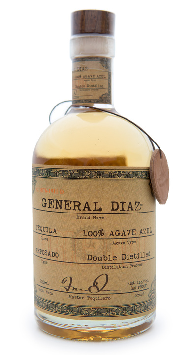 Bottle of General Diaz Reposado