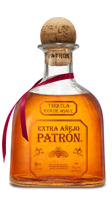 Bottle of Patrón Extra Añejo