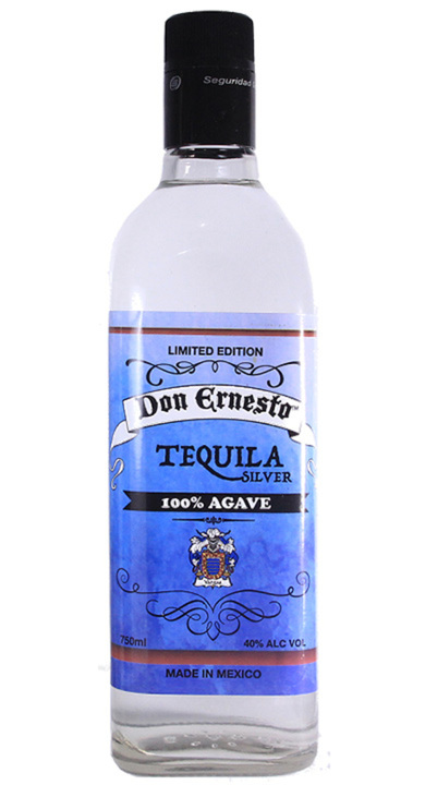Bottle of Don Ernesto Tequila Silver