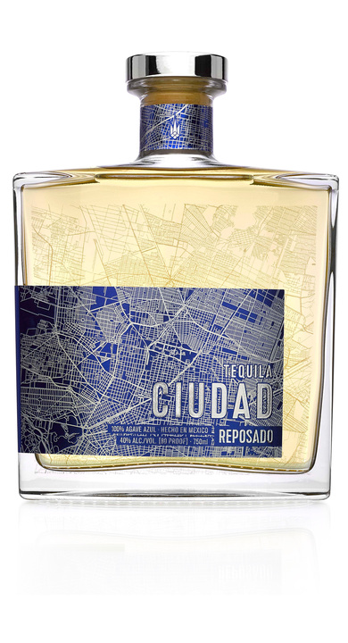 Bottle of Tequila Ciudad Reposado