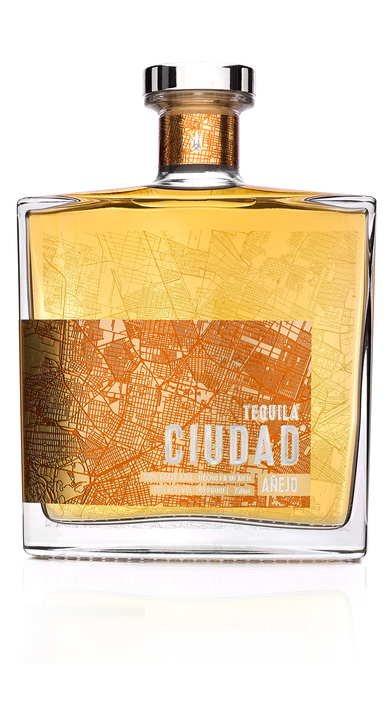 Bottle of Tequila Ciudad Añejo