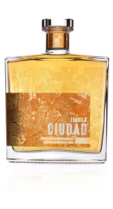 Bottle of Tequila Ciudad Añejo