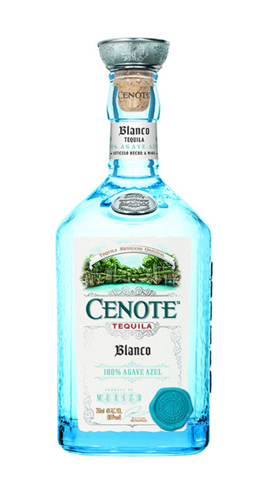 Bottle of Cenote Tequila Blanco