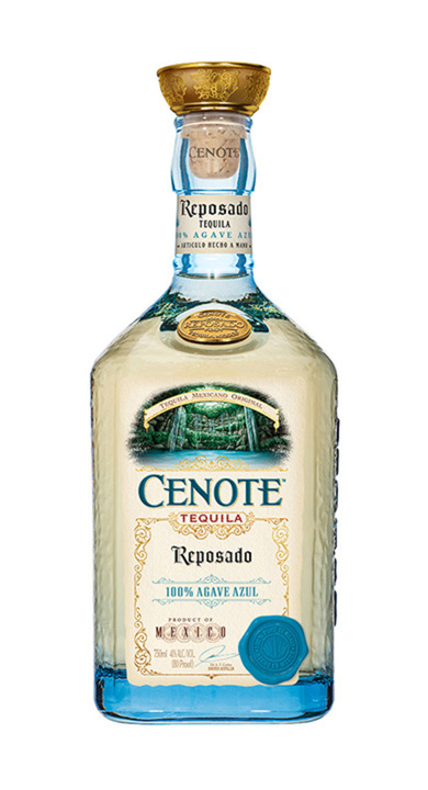 Bottle of Cenote Tequila Reposado