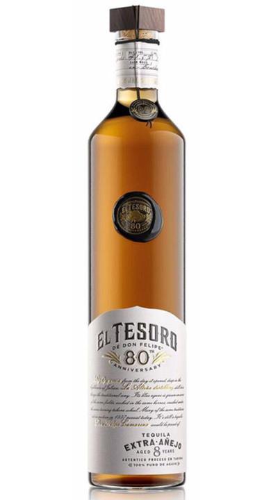 Bottle of El Tesoro 80th Anniversary Extra Añejo