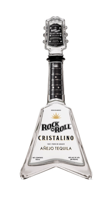 Bottle of Rock 'N Roll Cristalino Añejo Tequila