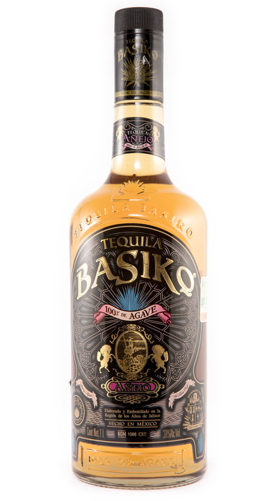 Bottle of Basiko Añejo