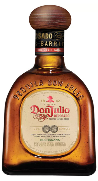 Bottle of Don Julio Dos Barricas Reposado
