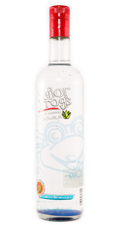 Bottle of Señor Frog's Tequila Plata